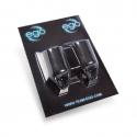 Paquet de 2 Surmanchons Biogrips EGO en Silicone Pour Manchons 19MM (Droits) - Noir