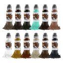 Set complet de 12 encres World Famous Ink Pony Lawson Vintage Reserve 30ml (1oz)