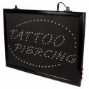 Enseigne LED à Suspendre pour Studios - TATTOO PIERCING