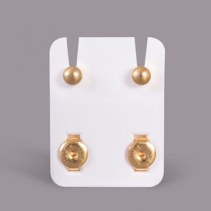 Boucles d'oreilles standard Studex pour piercing plaquées or - Boules classiques