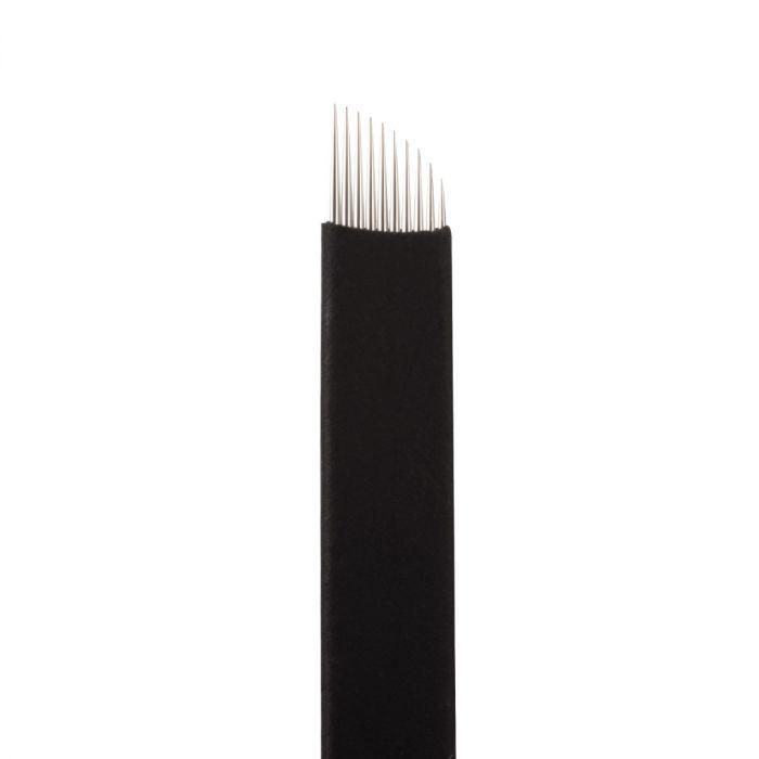 Boîte de 25 Jenn Boyd Ink - Brow Slayer Microblades / Aiguilles de Microblading - 10.25 Curved Slant