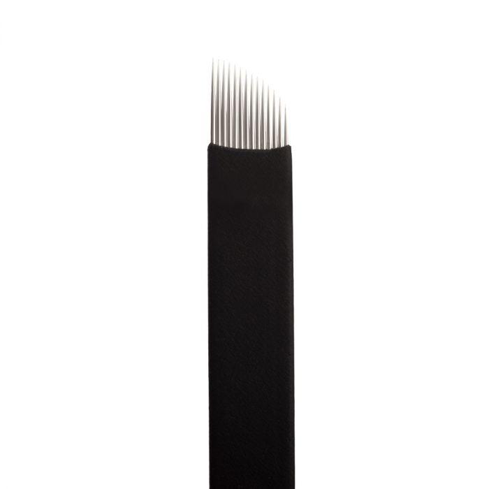 Boîte de 25 Jenn Boyd Ink - Brow Slayer Microblades / Aiguilles de Microblading - 14.20 Curved Slant