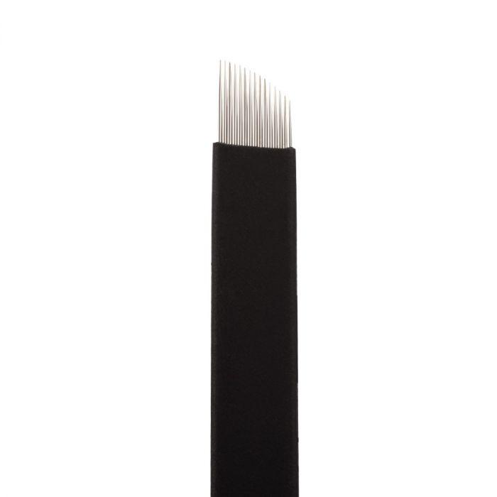 Boîte de 25 Jenn Boyd Ink - Brow Slayer Microblades / Aiguilles de Microblading - 15.16 Ultra Fine Curved Slant