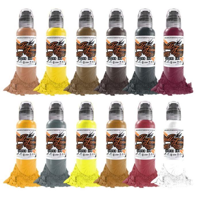 Set Complet de 12 Encres World Famous Ink Debora Cherrys Musas 30ml
