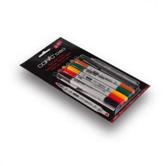 Marqueurs Copic CIAO - Couleurs Hue (Paquet de 5+1)