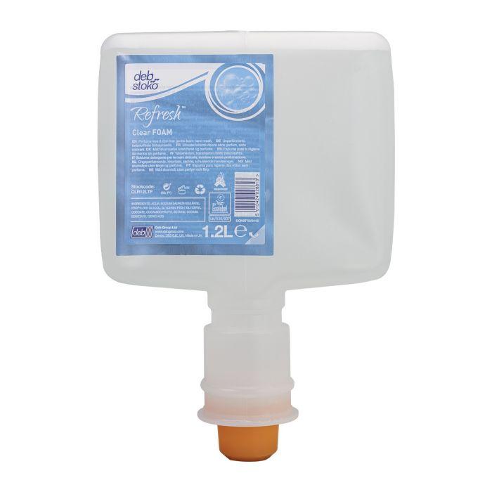 Désinfectant à base d'alcool Deb Stoko Refresh Clear Foam Soap Cartouche 1.2 L
