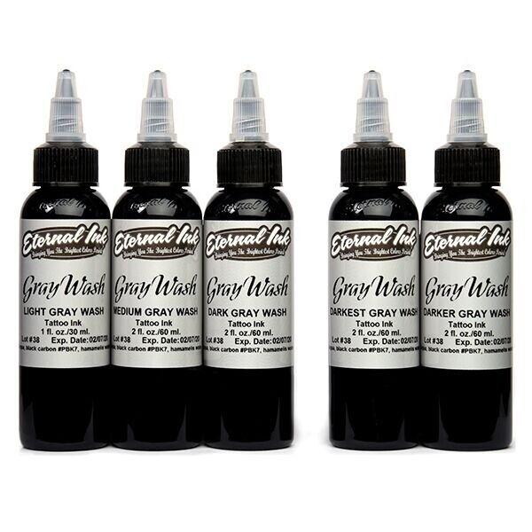 Eternal Ink - Gray Wash - Set complet 5 encres