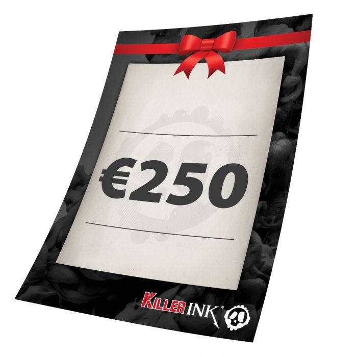 Chèque Cadeau Killer Ink de 250 €