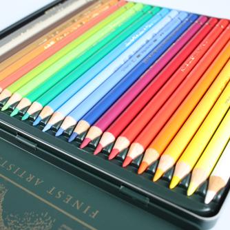 Faber-Castell - Boite Métallique Polychromos (24 Crayons de Couleurs)