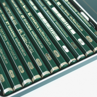 Faber-Castell - Boite Métallique Castell 9000 Design (12 Crayons Graphite)
