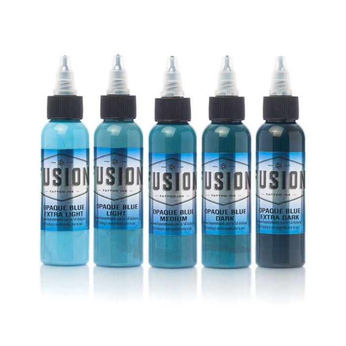 Encre Fusion Ink - Set Complet Opaque Blue 5 Encres