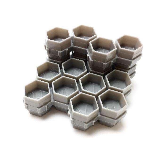 Pack de 50 Hive Caps - Soldier Bee Gris (200 godets à encre)