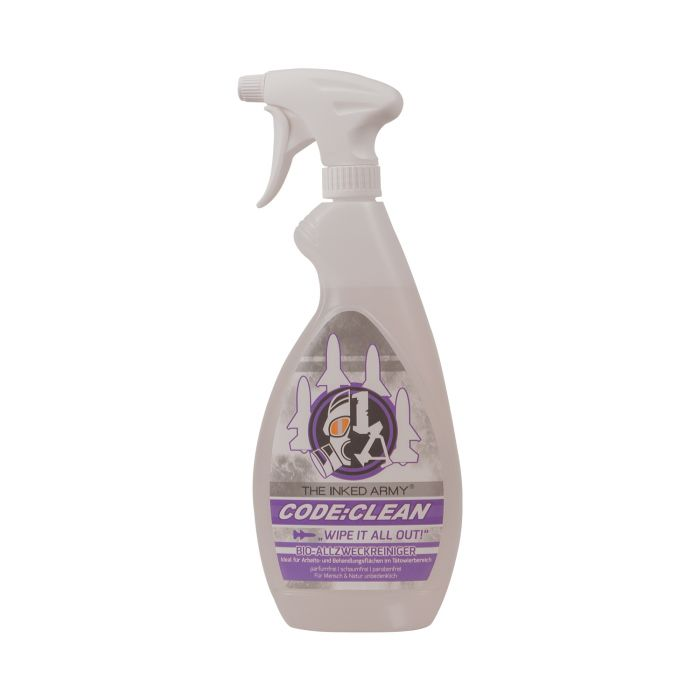 The Inked Army - Code:Clean, Spray nettoyant tout usage pour surfaces (770ml)