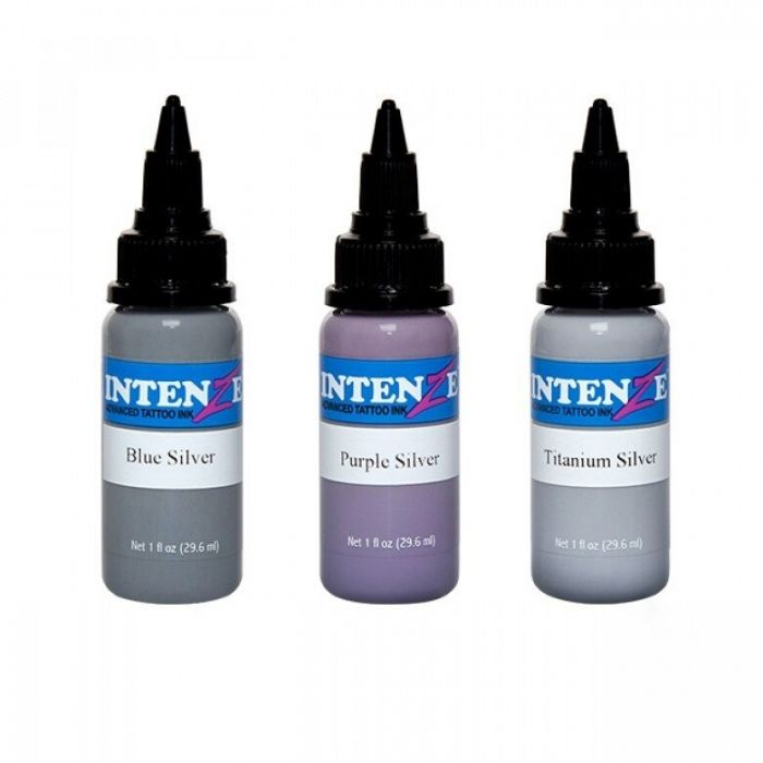 Intenze Ink - Essential Silvers - Set 3 encres (30ml)