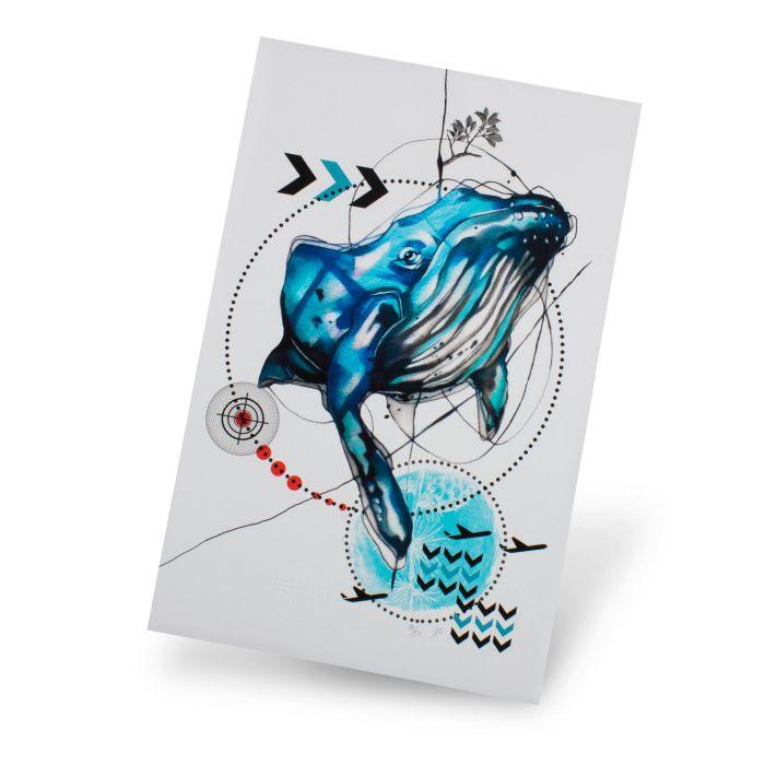 Design RemixIT (Ivana Tattoo Art) - Impression 'Blue Whale' (Édition Limitée)