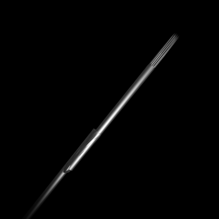 Pack de 5 Aiguilles pour Tatouage en Acier Inoxydable Stériles Killer Ink Bug Pin (0,25mm) Rondes pour Ombrage