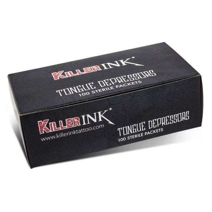 Killer Ink - Boite de 100 Abaisse-Langues Stériles Emballés Individuellement