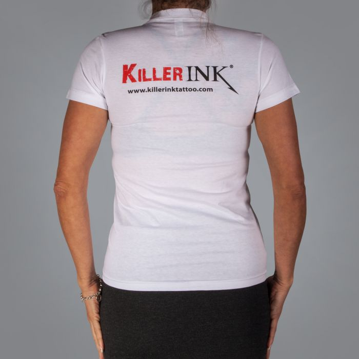 Killer Ink - T-Shirt pour Femme en Blanc