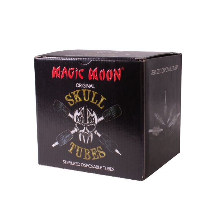 Boite de 20 ensembles Magic Moon Skull (tube/manchon 30mm) - Rond à angle