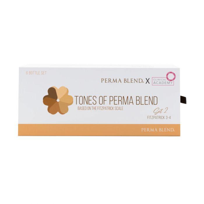 Perma Blend X Clinical Academy - Tones of Perma Blend Fitzpatrick 3-4 (Set 2) – 6 x 15ml