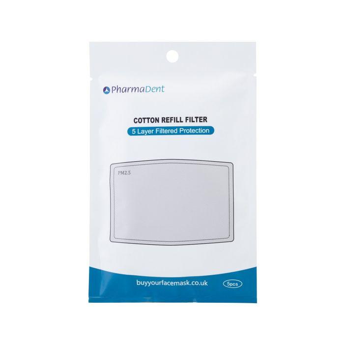 Filtres Coton Pour Masques pour le Visage PM2.5-PharmaDent - Pack de 5
