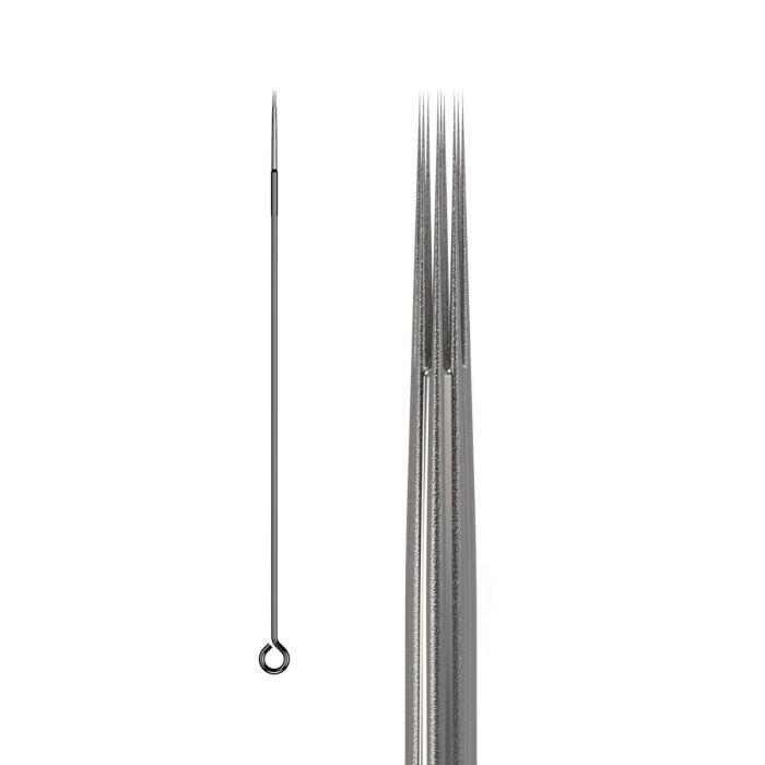 Boite de 50 aiguilles KWADRON 0,35mm LONG TAPER - BUGPIN (Texturées) - Round Liner