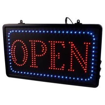 Enseigne LED à Suspendre pour Studios - OPEN