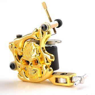 Machine à Tatouer Gold Skull Traçages / Ombrages