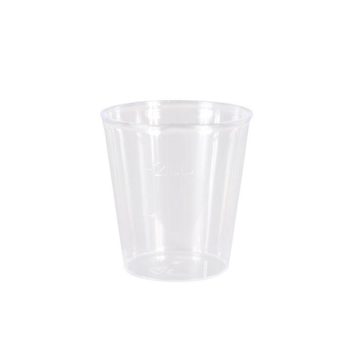 Pack de 100 mini gobelets transparents pour rinçage (20ml)