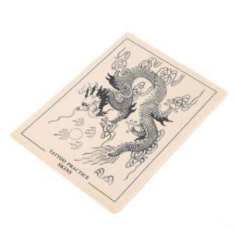 Peau d'Entrainement pour Tatouage - Motif Dragon (14,5 x 19,5cm)