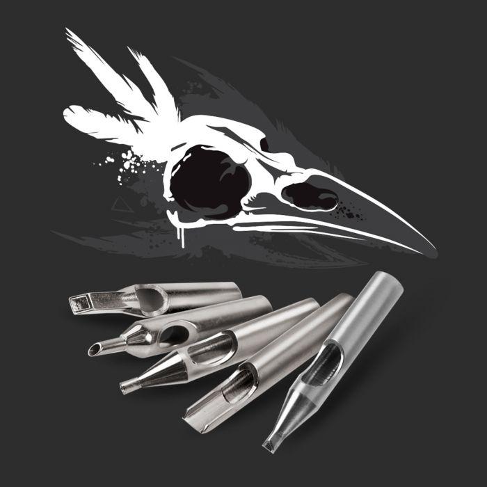 Killer Ink - Set Premium 36 Buses en Acier Inoxydable 316 - Rondes + Rondes CutBack + Diamants + Plates Ouvertes + Plates Fermées