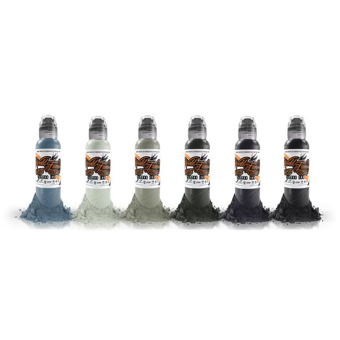 Encre World Famous Ink - Poch's Muted Storms - Set Complet 6 Encres (30ml)