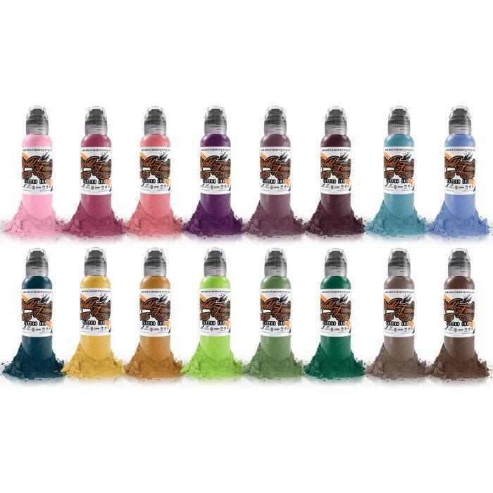 Encre World Famous Ink - A.D. Pancho Colour - Set Complet 16 Encres (30ml)