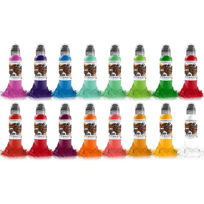 Encre World Famous Ink - Master Mike Asian Colour - Set Complet 16 Encres (30ml)