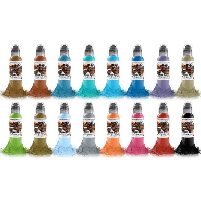 Encre World Famous Ink - Sixteen Colour #2 - Set Complet 16 Encres (30ml)